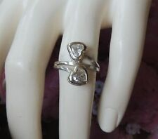 Ring Diamond Sterling Silver Vintage & Antique Jewellery