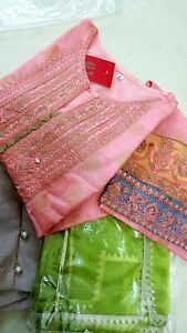 Original Pakistani designer Shalwar kameez , cotton jacquard organza suits