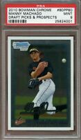 2010 bowman chrome draft picks & prospects #bdpp80 MANNY MACHADO rookie PSA 9