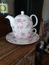 Laura Ashley Tea for One Mille Fleur Tea Set Teapot Cup Saucer