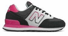 New Balance de mujer 574 Split Vela Zapatos Negro con Rosa
