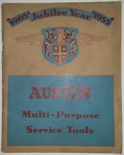 Austin Multi-Purpose Service Tools catalogue 1905 Jubilee Year 1955 & price list