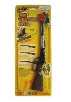 2 MINI WESTERN LEVER action CAP RIFLE toy play novelty gun NEW diecast metal