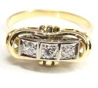 ♦♦ 14kt 585 antiker Damen Gold Ring Brillant Brilliant Brillantring Brillanten ♦