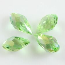 Pendants 10 Pcs Swaro-element 6*12mm Teardrop Crystal beads A fruitgreen AB