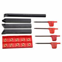 4pcs Drehbank Bohrstange Drehung Halter Werkzeug Kit und 10x DCMT0702 Carbid