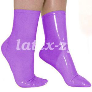 Fashion Latex Socks Handsome Socken Short Socks 0.4mm Rubber Size S-XXL