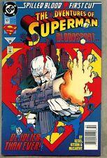 Adventures Of Superman #507-1993 nm- BloodSport Newsstand Variant
