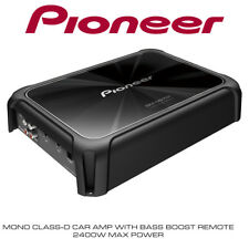 PIONEER GM-D9701 - Mono 2400W Class-D Car Amp with Bass Boost Remote Bass Amp