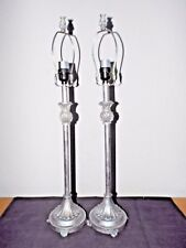 """LAMPS A PAIR OF 30""""H TALL FANCY CERAMIC FLORAL THEMED BANQUET TABLE LAMPS UNIQUE"""