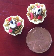 Dollhouse Miniatures Food Taco Salad for 2 in Tortilla Bowl Dinner