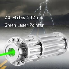 20 Miles 532nm Green Laser Pointer Pen Lazer Zoomable Focus Beam Light 0.5Mw Us