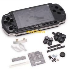 for sony PSP 3000 Slim Full Housing Shell Case replacement door button vol black