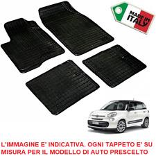 TAPPETI TAPPETINI su Misura FIAT 500L SET COMPLETO Zerbini in GOMMA *Made Italy*