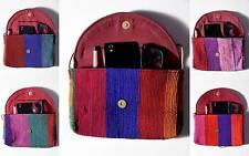 Women Boho Ethnic Embroidered Wristlet Clutch Bag Vintage Wallet Chindi Sling