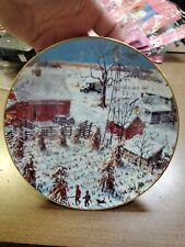 Return From The Hunt The American Farmer 1992 Danbury Mint Collector Plate Cp35