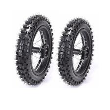 "Offroad Front 60/100-14 14"" Inch + Rear 80/100-12 Inch Tire Axle Rim Wheels x2"
