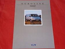 """FORD Transit Bus """"Euroline"""" Sondermodell Prospekt von 1991"""