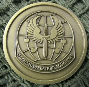 US AIR FORCE 15TH SPECIAL OPERATIONS SQUADRON COMBAT TALON II CHALLENGE COIN #3.