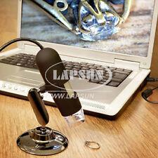 USB 200X Magnifier Digital Microscope Endoscope PC 8-LED Light Camera+ Stand US
