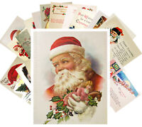 Postcards Pack [24 cards] Vintage Christmas Santa Wishes Greeting Cards CF7002