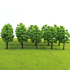 20x Light Green Tree Model Train Railroad Layout Wargame Diorama Scale HO