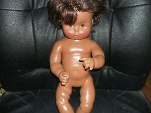 "VINTAGE Effanbee Baby BLACK Doll African American 18"" DOLL"