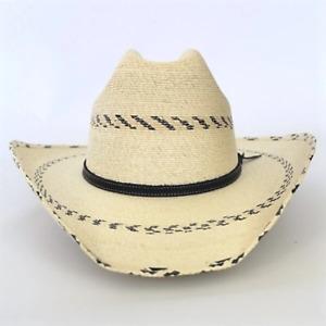 Atwood Boy's Palm Leaf Cowboy Hat - Black Pinto