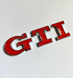 Red Silver Chrome GTI Rear Boot Metal Badge Emblem for VW Golf Polo 5 6 UP! Mk5