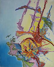 Albert PRAT (1927-2009) HsT / Abstraction lyrique Abstract / Titre : Naissance