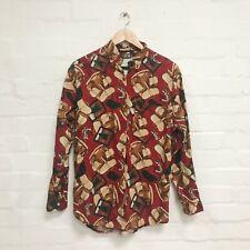 Vintage 80's 90's Rouge Sac à Dos Imprimé Chemise 10 Nouveauté Grunge