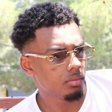 Sunglasses Men Elegant Luxury Wood Buff Glasses for Men Unique Square Rimless