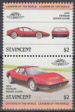 St. Vincent 1983 ** Mi.674/75 Automobile Autos Cars Ferrari 512 BB [sq6459]