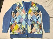 ~LIMITED~ Polo Ralph Lauren Patchwork Hand Quilted Pattern Cardigan Sweater RARE