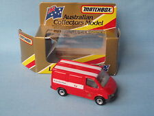 Matchbox Ford Transit Van Australia Post with Crest Roof Stripes Version Boxed