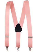 "New 1"" Peach Suspenders Baby, Toddlers, Kids, Boys Elastic Adjustable - Made in"
