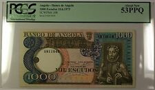 10.6.1973 Bank of Angola 1000 Escudos Note SCWPM# 108 PCGS About New 53 PPQ