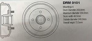 DRM9101 FORD FIESTA BRAKE DRUM
