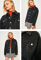 RRP - £56.00 BDG Women's Oversized Black Washed Denim Jacket