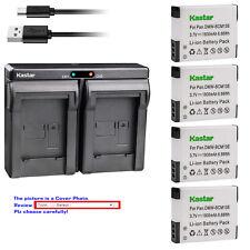 Kastar Battery Dual Charger for Panasonic DMW-BCM13 & Panasonic Lumix DMC-ZS50