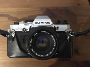 Olympus OM10 SLR Camera + Olympus Om-System Zuiko MC Auto 1:1.8 F=50mn Lens