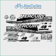 MERCURY Marine 40 HP Outboadrs Motor Pixel Laminated Decals Boat Kit Stickers