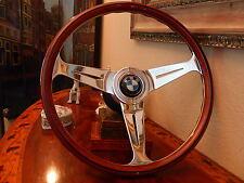 BMW 02 E10 2000 2002 Wood Steering Wheel NARDI BMW Hub/Boss BMW  Horn Button
