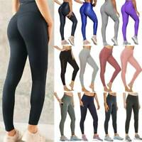 Women's Anti-Cellulite Yoga Pants Push Up Leggings Sports Fitness Gym Trousers