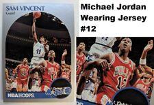 1990 90-91 Hoops SAM VINCENT #223A Variation: MICHAEL JORDAN Wearing Jersey #12