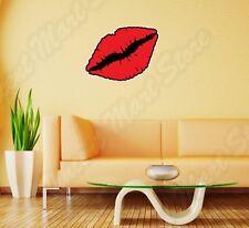 "Red Lips Kiss Love Lipstick Mouth Funny Wall Sticker Room Interior Decor 25""X18"""
