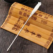 Chinese Classic Women Hairpin Hair Accessories White Jade Retro Stick 160mm