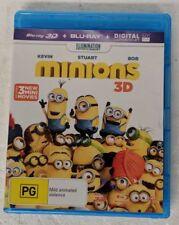 MINIONS 3D Blu-ray + 2D Blu-ray 2-DISC RB oz seller