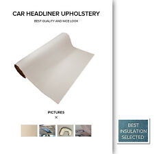 1.5M x 2.5M Beige Car Caravan Headlining Fabric Top Roof Headliner Upholstery OZ