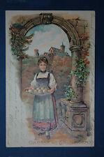 GRUSS AUS THÜRINGEN  -  cachet au verso ERFURT 4. 5. 01. (1901)